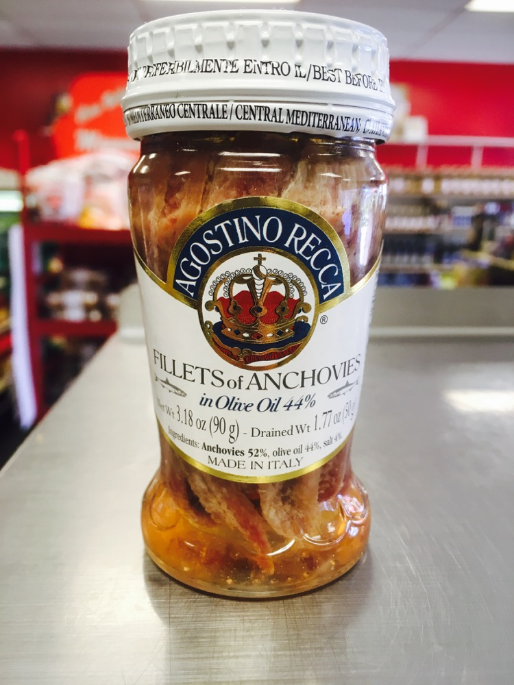 Anchovies imported from Italy