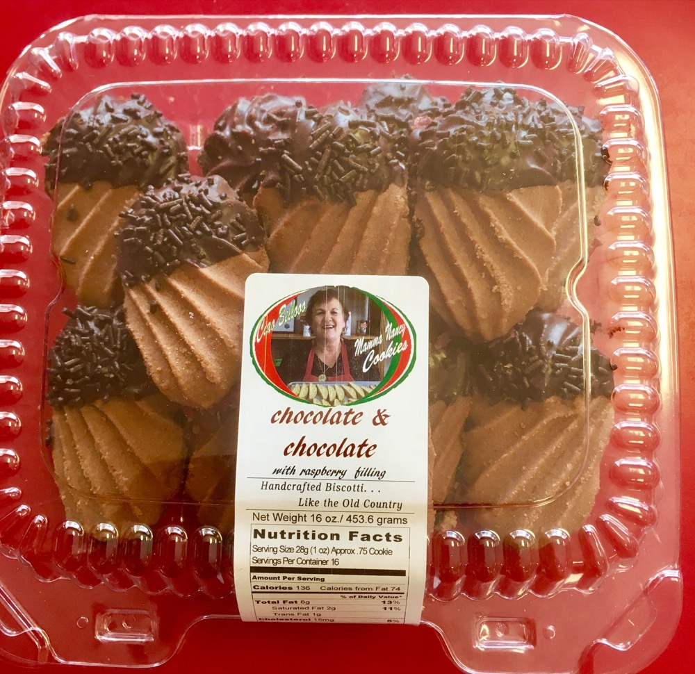 Mamma's Chocolate with chocolate filling cookies